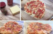 Krokante kaas basis magnetron pizza