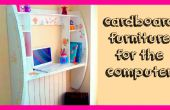 DIY ambachten: How to make een kartonnen meubels voor computer tutorial