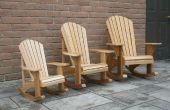Kind grootte Adirondack schommelstoelen