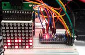 Arduino binaire klok met LED Matrix