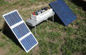 Zonne---noodstroomvoorziening--draagbare camp generatorvermogen