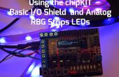 De chipKIT Basic i/o-schild met analoge RGB Strip LED's