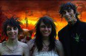 Zombie familie portret (met demon huisdier)