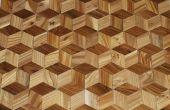 Maken van een hardhouten vloer die eruit 3D van uw eigen bomen ziet