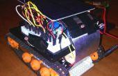 Zonne-aangedreven zaklamp gecontroleerde mini tank robot!