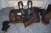Schoen en handschoen Droogrek