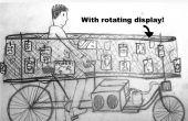 Art Gallery met bewegende muren op fiets