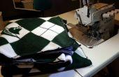 Gemakkelijk fleece deken met een naaivoet