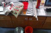Aluminium gieterij en de filterkroes