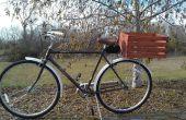 Houten fiets mand