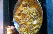 Tex-Mex kip en rijst