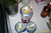 Met behulp van USED COOKING OIL voor overleving kaarsen