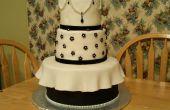 Elegante zwarte en witte Cake