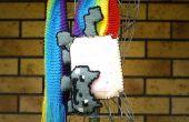 Nyan Cat sjaal gebreid