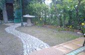Stone wandelen pad bouw & Drainage Setup voor uw gazon