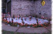 Buiten Candy Cane Cane decoraties verlicht
