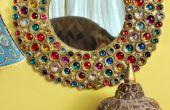 Met juwelen getooide Boho karton spiegel
