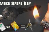 Emergency zelfgemaakte reserve sleutel met TicTac fles of Credit Card In 2 minuten laten
