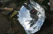 """Maken en gebruiken van een parabolische zonne-fornuis (grote project) voor een """"samengestelde"""""""