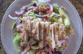 Aziatische kippensalade met koriander limoen Dressing