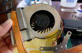 Hoe schoon Laptop ventilator en thermische plakken van toepassing op de CPU en GPU