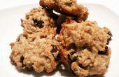 Chewy Vegan Oatmeal Rozijnen Cookies