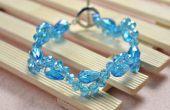 Eenvoudig gerolde armband patronen - hoe maak je een kristal kralen armband met gesp van een knevel