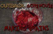 Fake eetbare hersenen maken door Splatter voor uw horrorfilm.