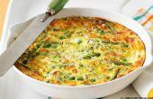 Veggie Frittata recept aan te passen aan die ooit groenten in seizoen zijn