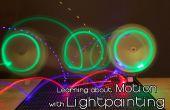 Leren over Motion met lichte schilderij