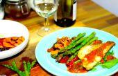 Pan gebakken zeebaars met gegrilde groenten | Koken met Benji