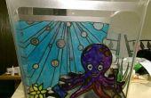 Gebrandschilderd glas Octopus's Garden vissentank