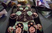 Schouderophalend teddybeer Cup Cake - taart