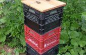 Milkcrate fietsbox (verticaal gestapelde)