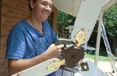 Solar powered plafondventilator, cirkelvormige zag conversie