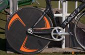 Carbon disc wiel voor een track fiets zonder aangepaste tooling