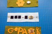 Armband van geleidende naaien LED