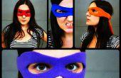 Superheld masker zelfstudie + patroon