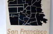 Hoe te maken van een Laser kaart van San Francisco gesneden