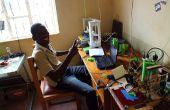 Handhaving van een kleinschalige 3D printing faciliteit in Oeganda