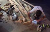 DIY Haring Bone gedessineerde Pallet Bench!