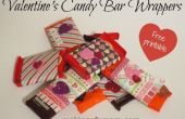 Valentijnsdag Candy Bar Wrappers