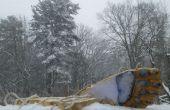 Yeti voeten-Make yeti voetstappen in de sneeuw!