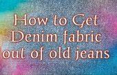 How to Get Denim stof van oude jeans