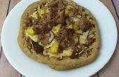Gegrilde ananas Pulled Pork Pizza