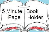 5 minuten boek pagina houder