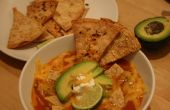 Tortilla soep twee manieren (vegetarisch of kip)