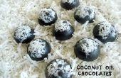 Zelfgemaakte chocolade van kokosolie ~ suikervrij en low carb!