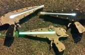 Gemakkelijk stoom Punk Laser pistool dat oplicht