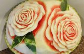 Watermeloen snijwerk Basics: rozen!